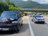 Egerkingen SO: Unfall auf der A2 zwischen drei Fahrzeugen mit Verletzten