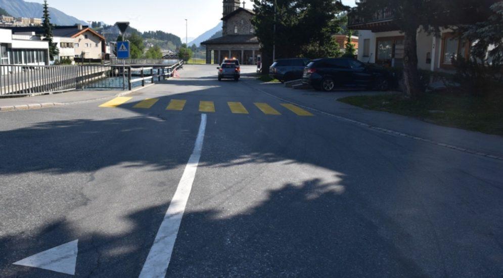 St. Moritz GR: Velofahrer bricht sich bei Unfall sein Bein