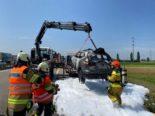 A1, Niederbipp SO: Erhebliche Verkehrsbehinderungen wegen brennendem Auto