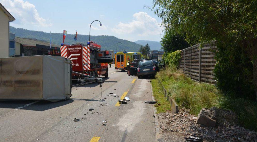 Breitenbach SO: Zwei Personen bei Unfall verletzt