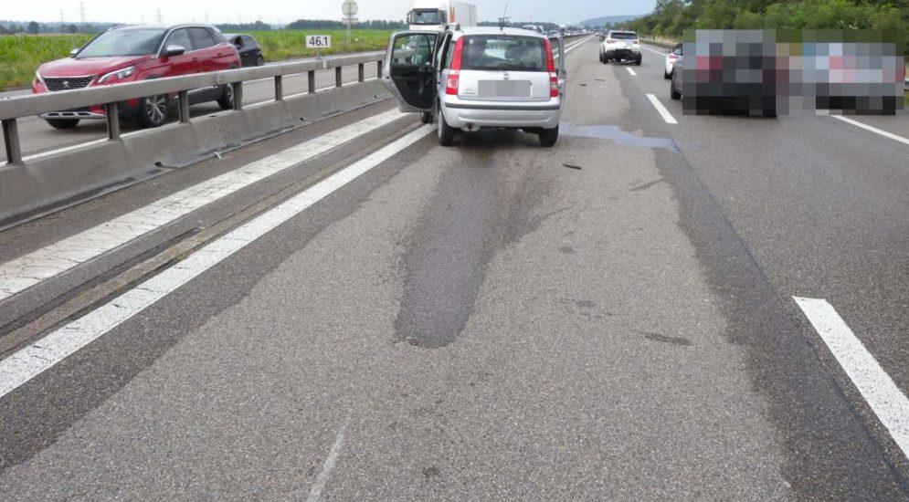 Kestenholz SO: Vier Personen bei Unfall auf A1 verletzt