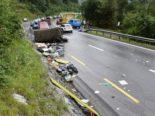 Flims Dorf GR: Mit Militärfahrzeug bei Unfall auf die Seite gekippt