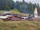 Scheid im Domleschg GR: Maiensäss mit Stall durch Feuer zerstört