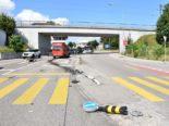 Solothurn SO: Lieferwagen crasht bei Unfall in Lichtsignalanlage