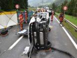 N28 Schiers GR: Mehrere Verletzte bei schwerem Unfall mit vier Fahrzeugen