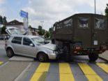 Waldstatt AR: 19-Jährige crasht bei Unfall in Lastwagen der Armee