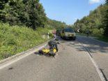 Röschenz BL: Motorradfahrer bei Unfall mit Lieferwagen schwer verletzt
