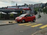 Unfälle Herisau AR: Zwei Inselschutzpfosten umgefahren