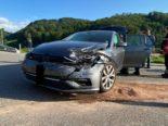 Läufelfingen BL: Fahrzeug dreht sich bei Unfall um 180 Grad