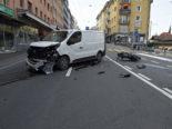 Emmenbrücke LU: Motorradlenker bei Unfall mit Lieferwagen erheblich verletzt
