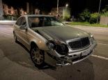 Frauenfeld TG: Mercedes-Fahrer kollidiert bei Unfall mit Bahnsignal