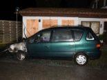 Windisch AG: Fahrzeug mit Farbschmierereien in Brand geraten