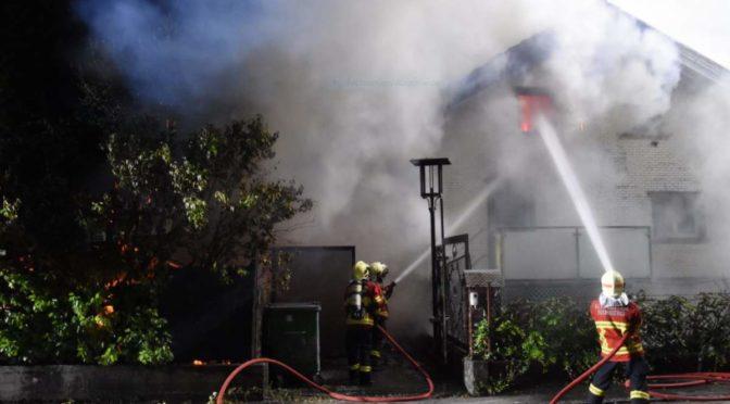 Altstätten SG: Einfamilienhaus durch Brand total zerstört