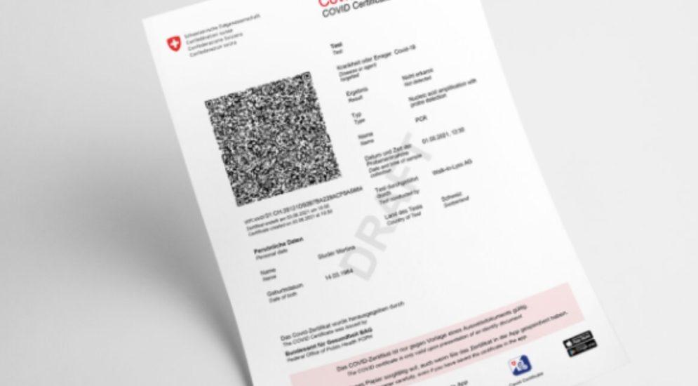Corona: EU anerkennt Schweizer Covid-Zertifikat