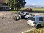 Unfall Autigny FR: Zwei Autofahrer nach Frontalkollision verletzt