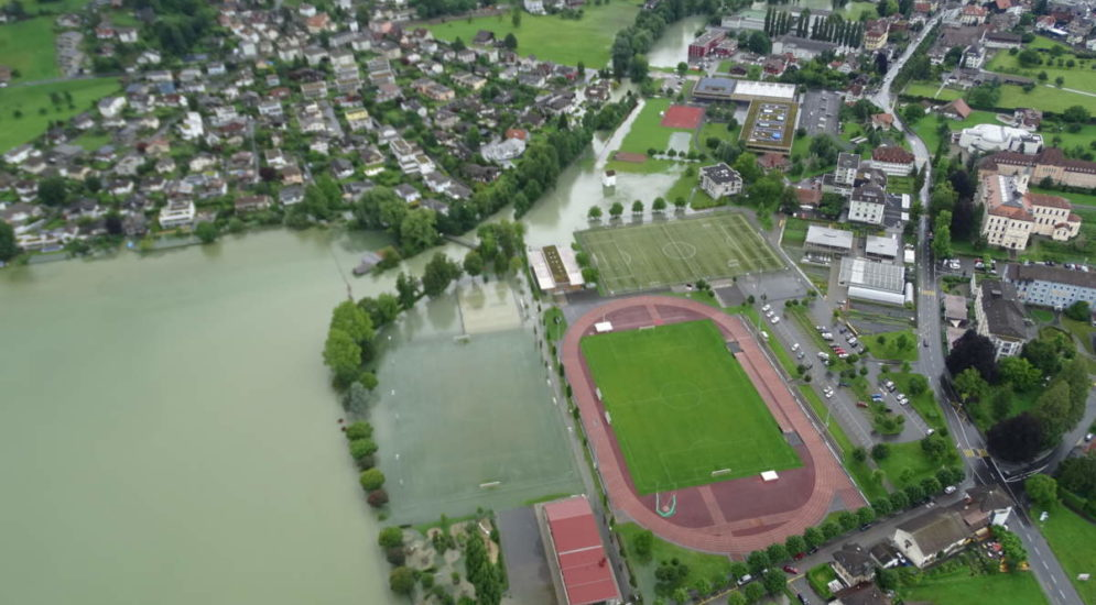 Hochwassersituation im Sarneraatal OW - Pegel um mehr als 50 Zentimeter gesunken