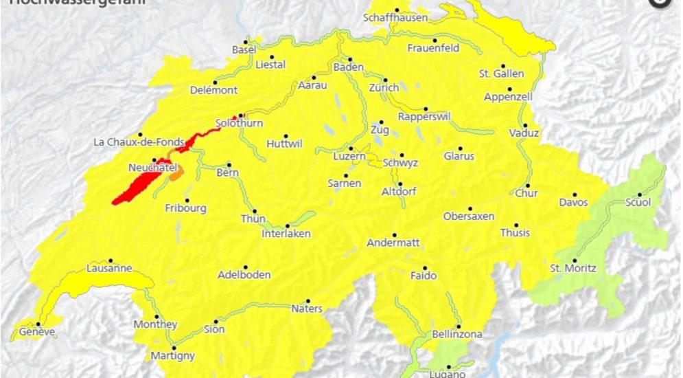 Hochwasser Schweiz: BAFU veröffentlicht neues Gefahrenbulletin