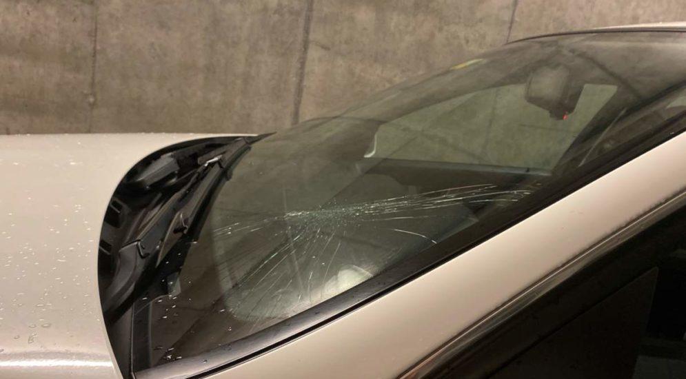 St.Gallen SG: Fussgänger bei Unfall gegen Windschutzscheibe gehoben
