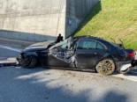 La Trême-Tunnel FR: Fahrer bei Unfall schwer verletzt von Feuerwehr befreit