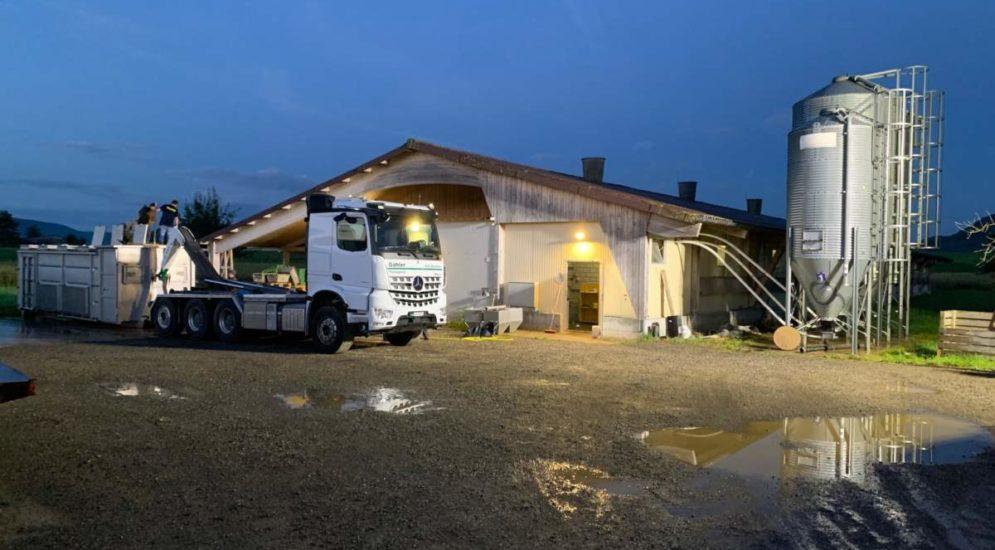 Hochwasser in Trasadingen SH: Über 17'000 Hühner ertrunken