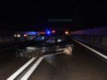A23, Steinach SG: Fahrunfähiger Lenker bei Unfall mit Randleitplanke kollidiert