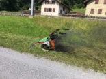 Schänis SG: Motormäher gerät wegen technischen Defekts in Brand
