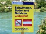 Zürich ZH: Grosse Gefahr durch sehr hohe Abflussmenge auf der Limmat