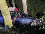 Muotathal SZ: Fahrzeug bei Unfall 10 Meter den Abhang herunter gestürzt