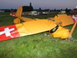 Flugzeugunglück Subingen SO: Insasse nach Absturz am Unfallort gestorben