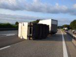 Luterbach SO: Anhänger kippt bei Unfall auf A1 um