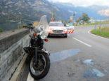 Mühlehorn: Motorradfahrer prallt gegen Mauer von Brückengeländer