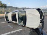 Unfall A1 Spreitenbach / Wettingen AG: Alkoholisiert überschlagen