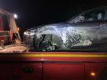 Lenzburg AG: Audilenker nach Unfall auf der A1 in kritischem Zustand