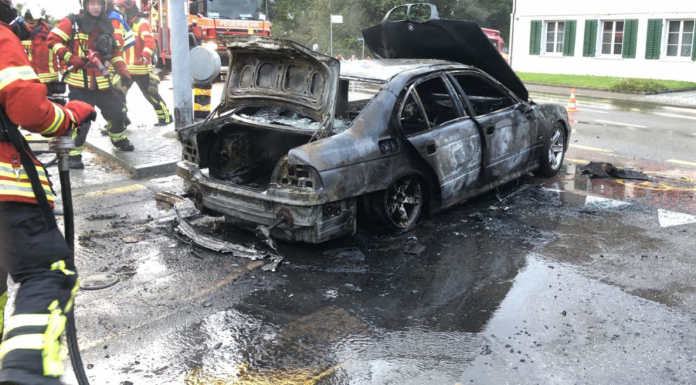Autobrand in Pfyn TG