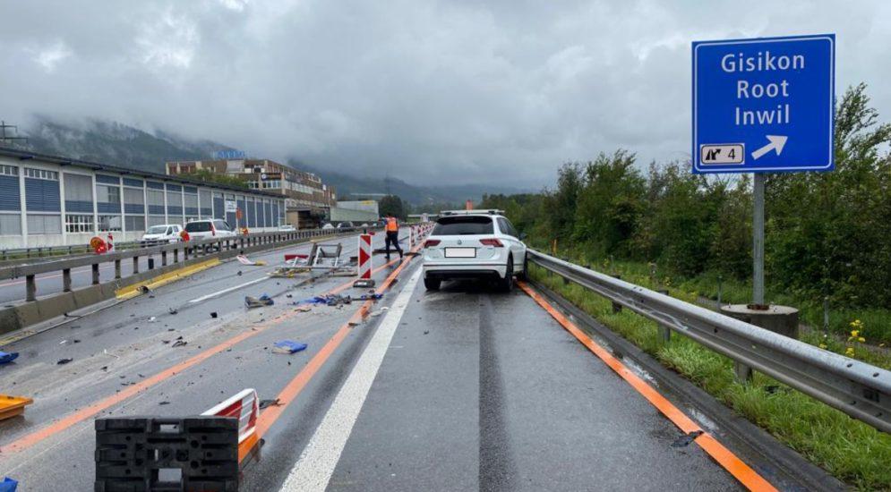 Unfall Zug ZG: Fahren Sie vorsichtig auf der A14