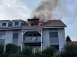 Rueyres-les-Prés FR: 19 Personen wegen Brand evakuiert