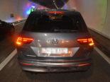 Unfall mit drei Autos im Tunnel Quarten SG