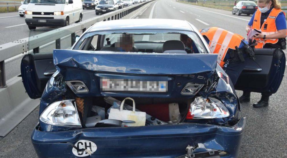 A1 Niederbipp SO: Ein Verletzter bei Unfall mit vier Fahrzeugen