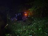 Schwellbrunn AR: Fahrer fährt in Kurve geradeaus - Baum stoppt die Fahrt