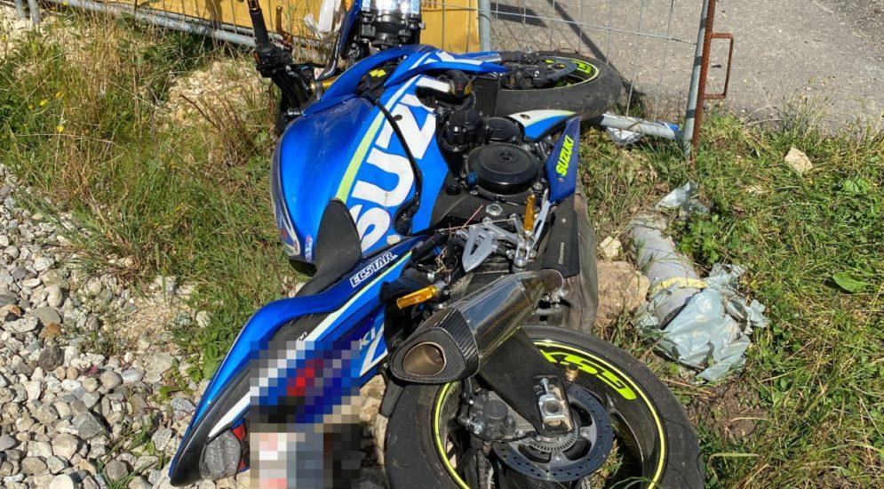 Beinwil SO: Motorradfahrer bei Unfall in Baustelle geprallt