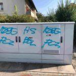 Wolfwil SO - Verteilkästen, Schilder und Wände durch Graffitis beschädigt