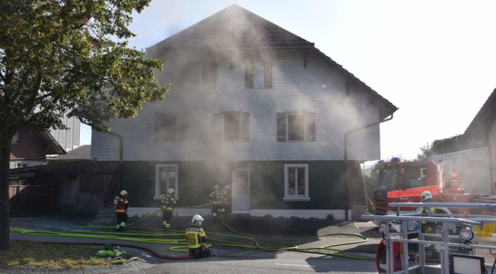 Brand Lohn-Ammannsegg SO: Drei Personen ins Spital transportiert
