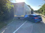 Unfall A3 Mumpf AG: Auf Rastplatz in LKW gedonnert, Mann schwer verletzt, Mutter und Kind im Spital