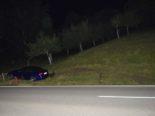 Rehetobel AR - Bei Unfall in Strassenböschung gekracht