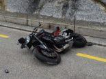 Urnäsch AR: Motorradfahrer prallt bei Unfall in Betonelement