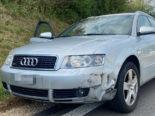 Eiken AG: Zwei PW crashen bei Unfall in Kreisverkehr ineinander