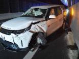 Hergiswil NW: Heftiger Unfall auf der Autobahn A2
