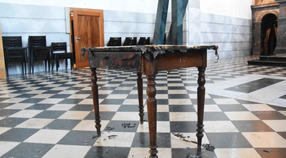 Gossau SG - Brandstiftung in der katholischen Kirche mittels Opferkerze