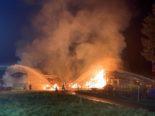 Brand Trachslau SZ: Stall durch Feuer komplett zerstört