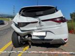 Hünenberg ZG: Unfall zwischen Lieferwagen und PW